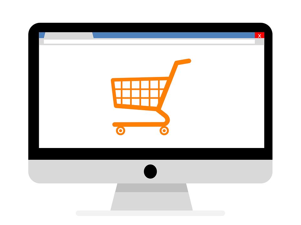 экран с изображением интернет-магазина