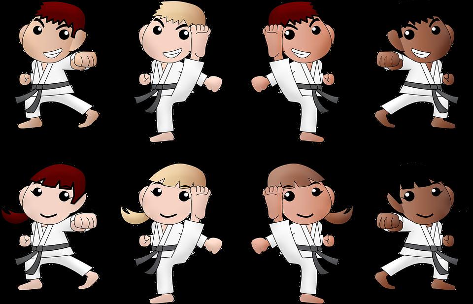 детские спортивные секции карате, картинка детей-каратистов
