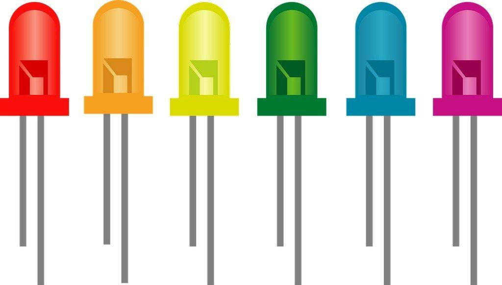 светодиодные лампы разных цветов