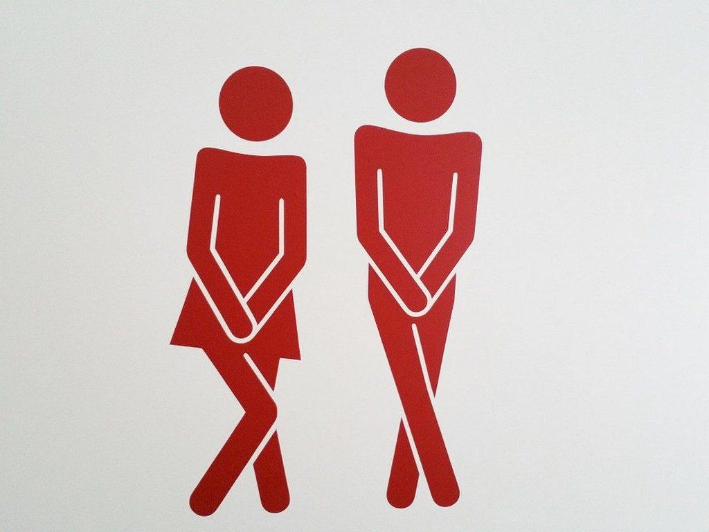 схематическое изображение людей, которые хотят в туалет
