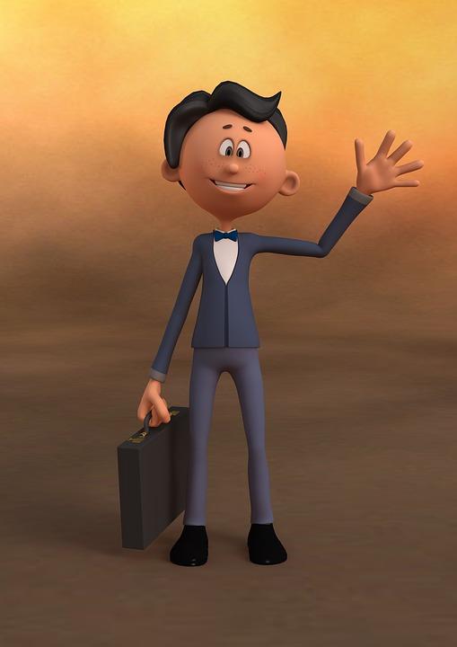 картинка вежливый ребенок с портфелем в руке машет рукой приветствуя