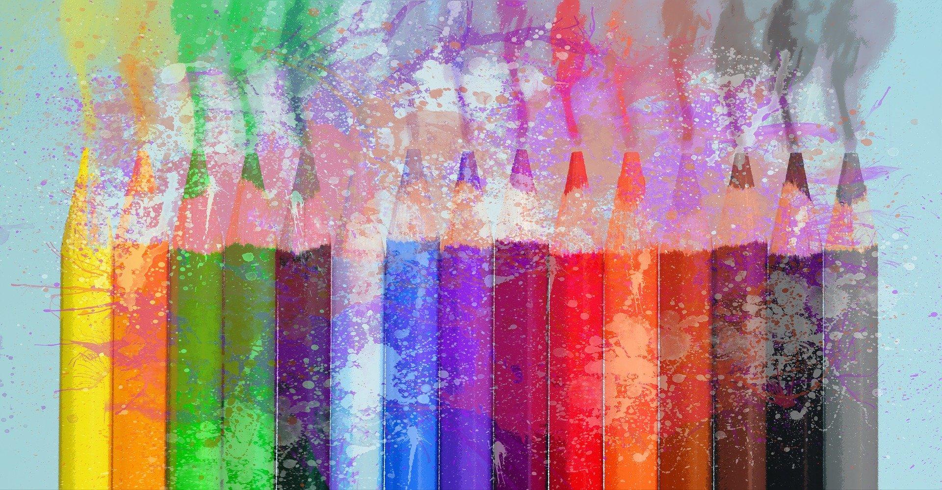 изображение цветных карандашей