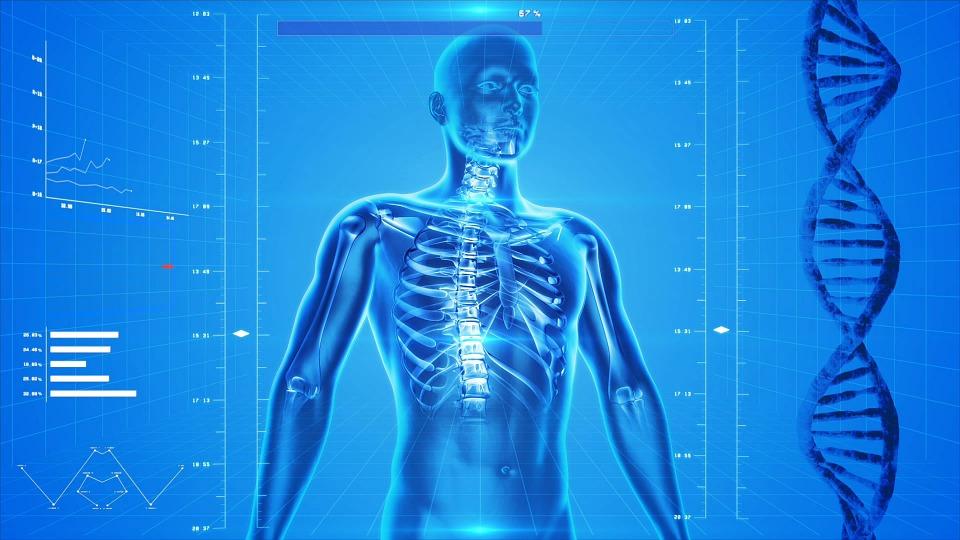 изображение человека рядом со спиралью ДНК