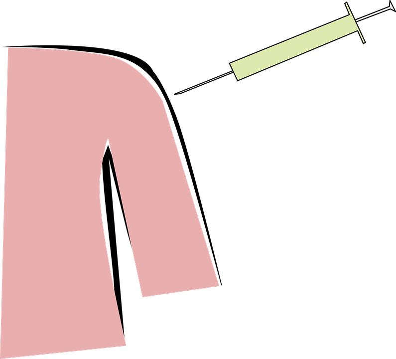 пневмония у детей и прививки от заболевания, укол делается в руку