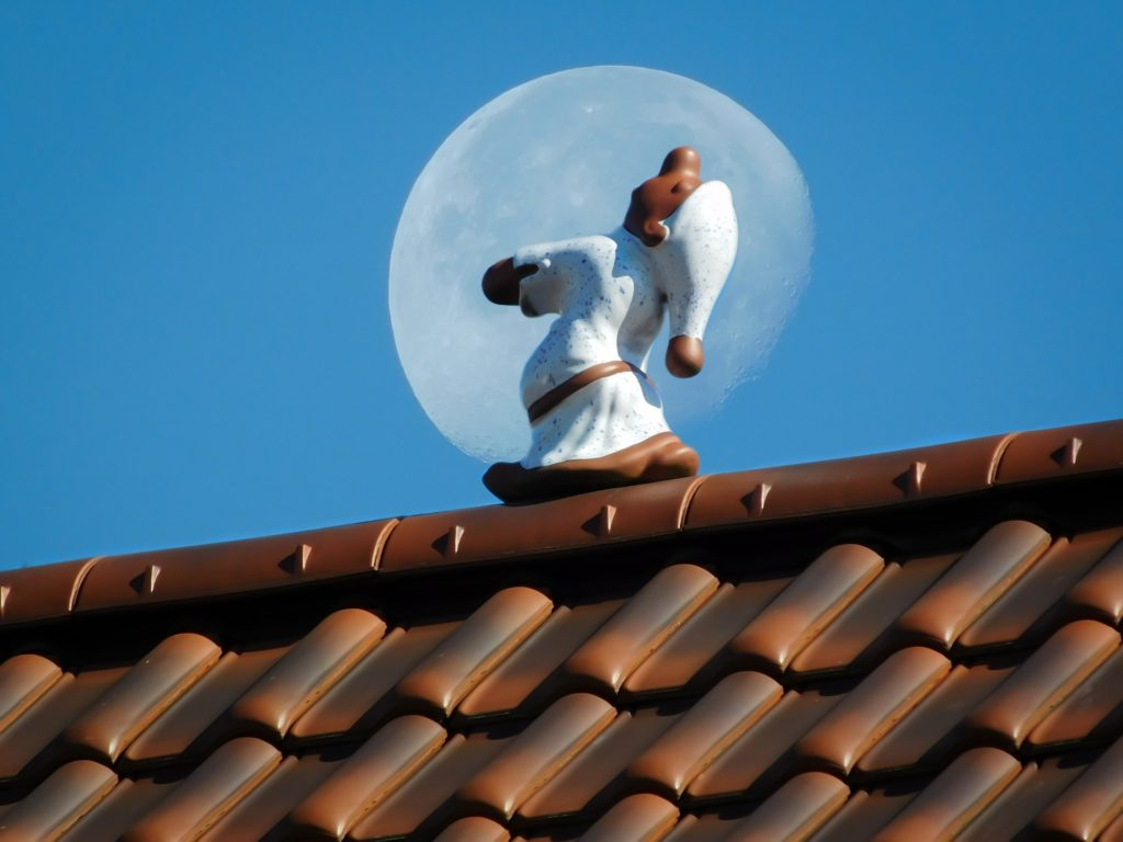 фигурка гнома в пижаме, который ходит по крыше во сне